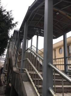 Pasarela de la Gară a fost redeschisă traficului pietonal