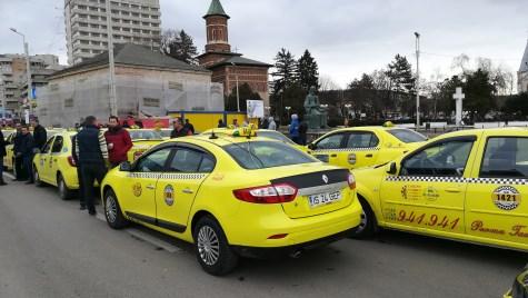 Proteste taximetrişti Iaşi 13.02.2019