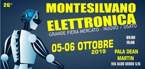 Fiera dell'Elettronica e mercatino a Montesilvano 2019 locandina