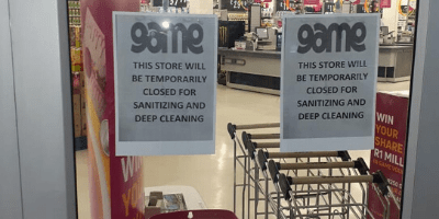 Game in Trade Route Mall Lenasia Closed for Sanitizing and Deep Cleaning