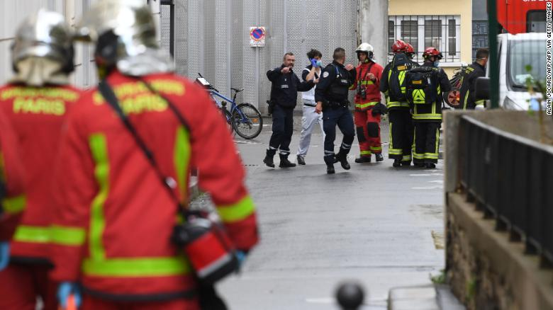 Four Injured in Knifing Incident Outside Charlie Hebdo Former Offices
