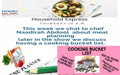 Household Express: This week we chat to chef Naadirah Abdool about meal planning