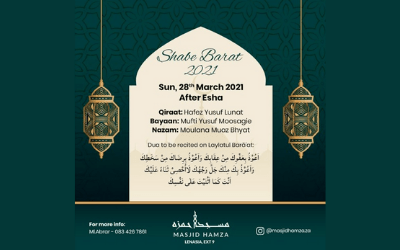 15th Shabaan Lecture by Mufti Yusuf Moosagie