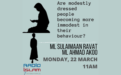 Are Modestly Dressed People Becoming More Immodest In Their Behaviour? Ml S Ravat And Ml A Akoo