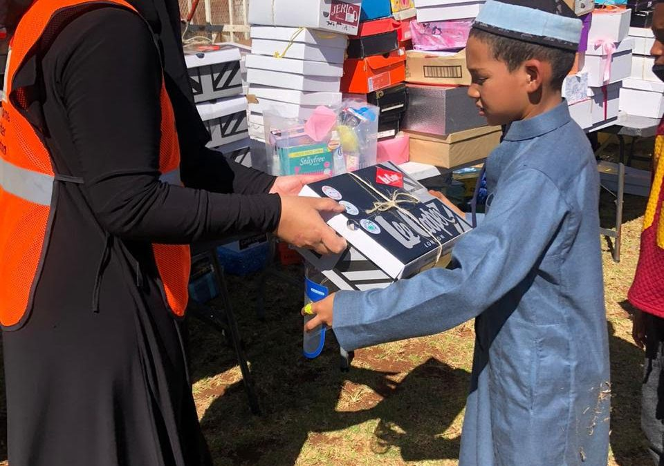 Over Two Thousand Eid Shoe Boxes Distributed to Madrassahs in Various Communities in SA to Mark the End of Ramadan