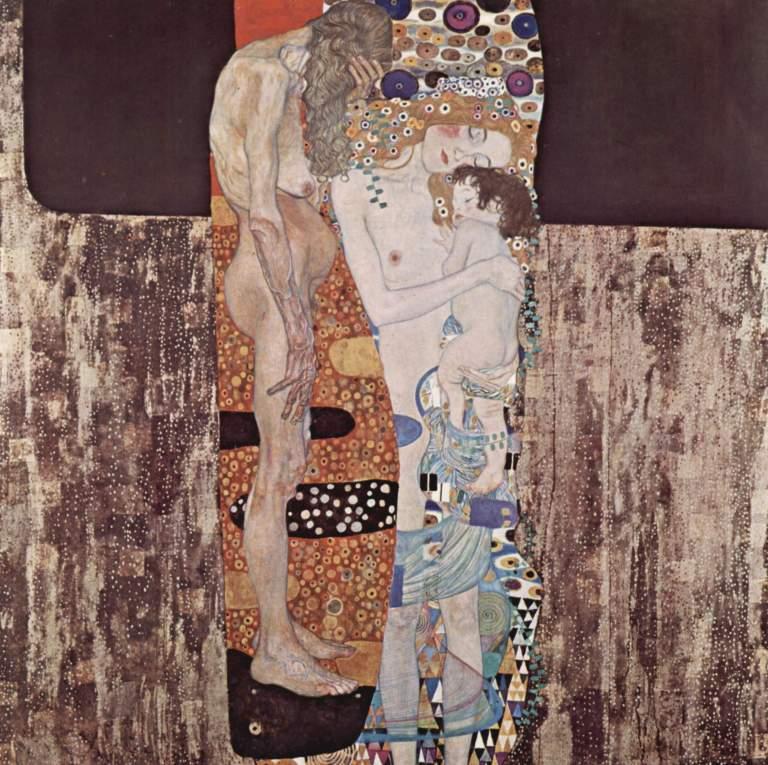 """Gustav Klimt – """"Le tre età"""""""