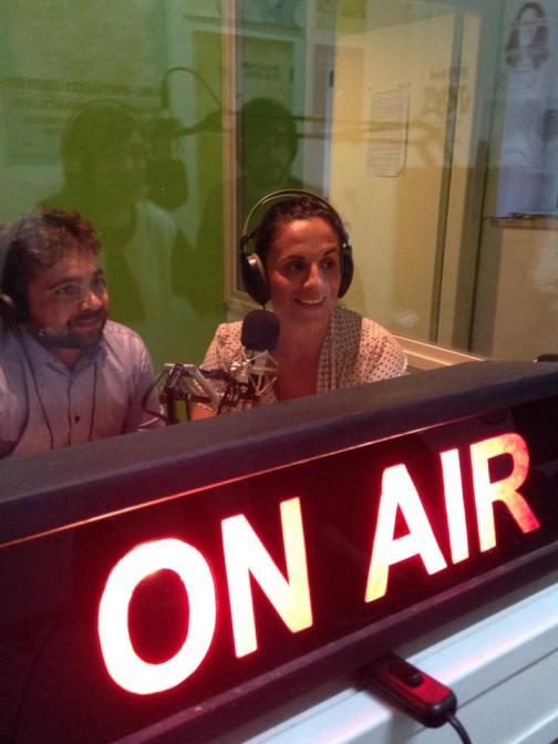 Gli architetti Roberto Corbia e Roberta Pastore negli studi di Radio Lab