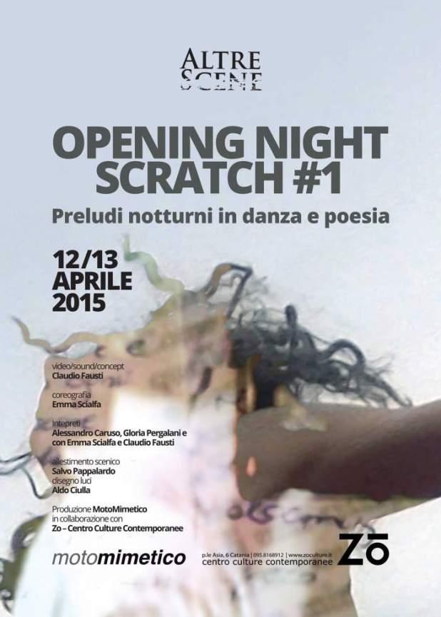 Opening Night Scratch 1 - preludi notturni in danza e poesia - AltreScene
