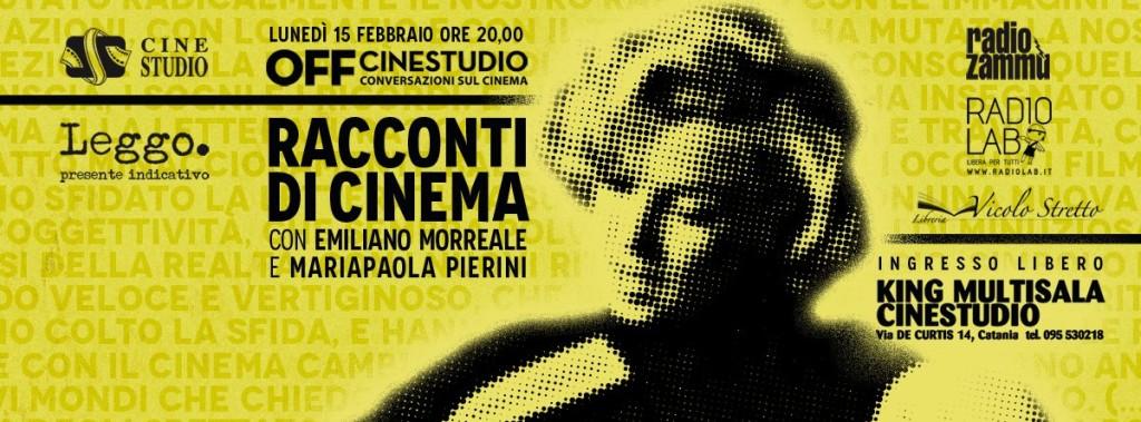 OFF CINESTUDIO RACCONTI DI CINEMA Emiliano Morreale Mariapaola Pierini