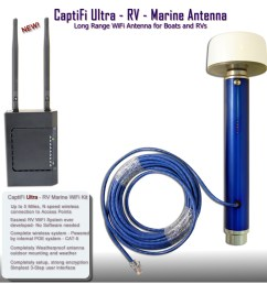 captifi ultra wifi rv marine antenna [ 1006 x 1006 Pixel ]