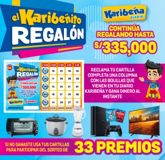Banner Karibeñito Regalon nueva cartilla