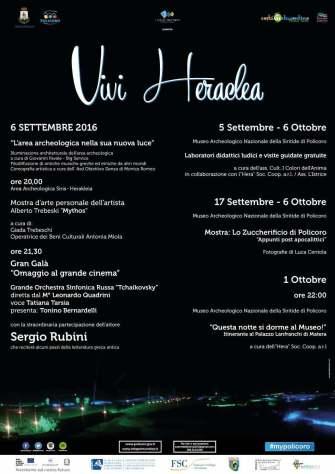 manifesto Vivi Heraclea 2016