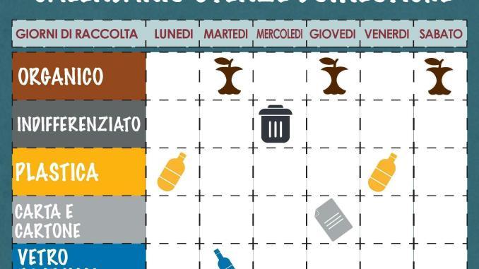 Calendario Raccolta Differenziata Sanremo.Pisticci Nuovo Calendario Dei Giorni Di Raccolta Per Le