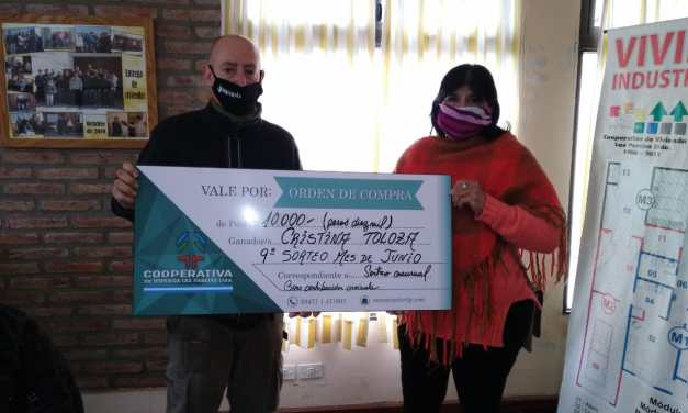 La Cooperativa de Viviendas entregó otro premio