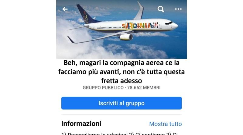 compagnia aerea sarda coronavirus