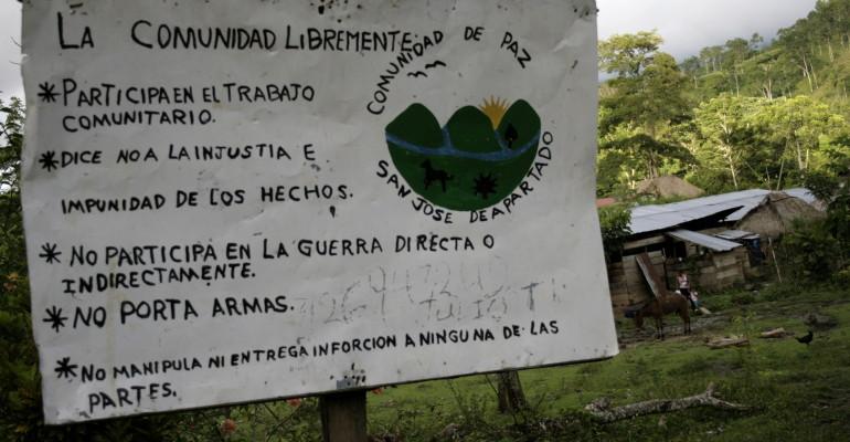 Juez de Apartadó estaría siguiendo orientaciones del ejército contra Comunidad de Paz - San-José-de-Apartadó-770x400