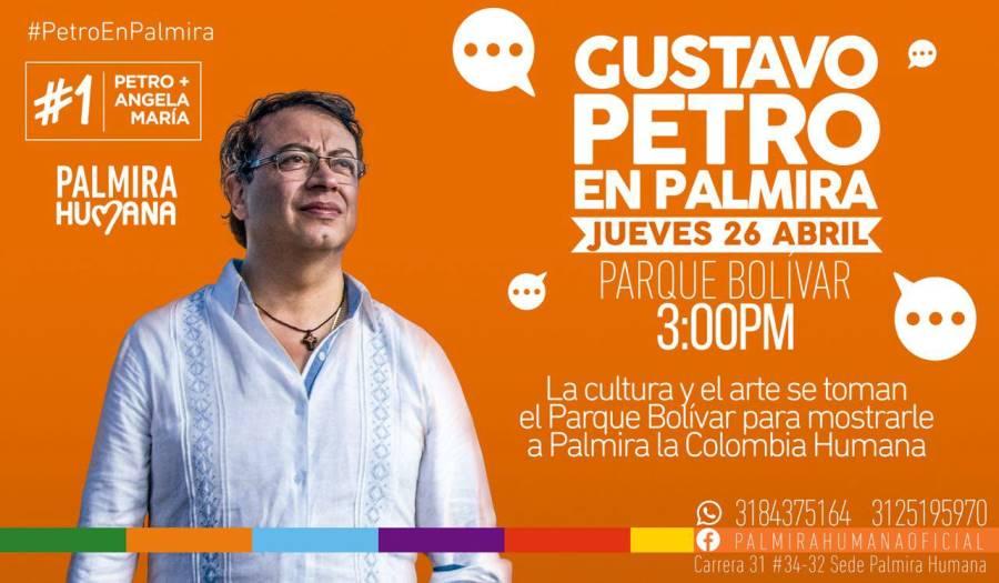 Sin tamales, Petro llega a Palmira - Gustavo-Petro-en-Palmira