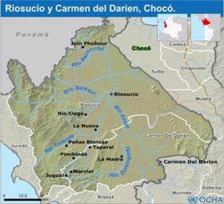 Paramilitares fuerzan desplazamiento de Riosucio (Chocó) - riosucio