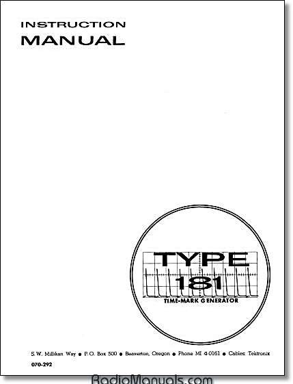 Tektronix instruction and service manuals