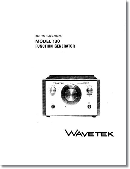 Wavetek Instruction Manuals and Service Manuals