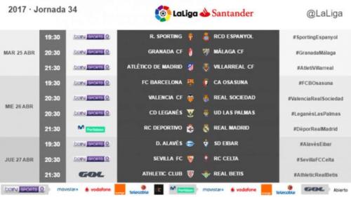Madrid y Barça, en miércoles, en la jornada entre semana de LaLiga radiomarcabcn