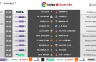 Ya se conocen los horarios de la séptima jornada de Liga