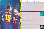El Barcelona tendrá el título en el bolsillo si sale airoso de Mestalla, La Cerámica y el Bernabéu