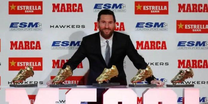 Messi sexta Bota de Oro