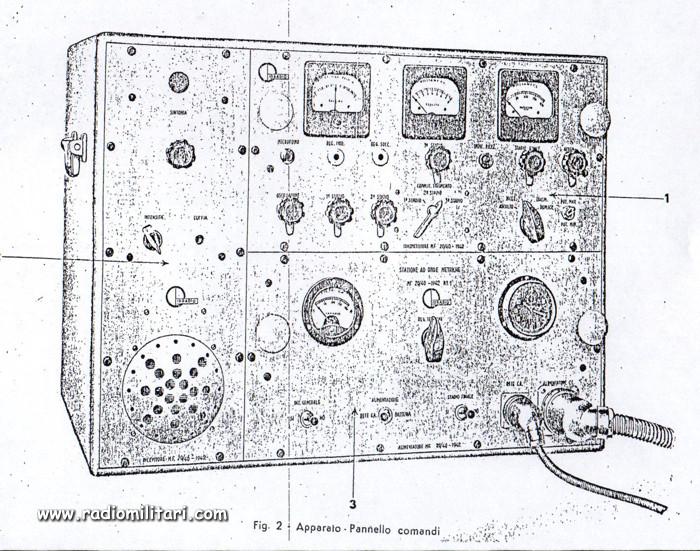 MF2040 Italian military radio