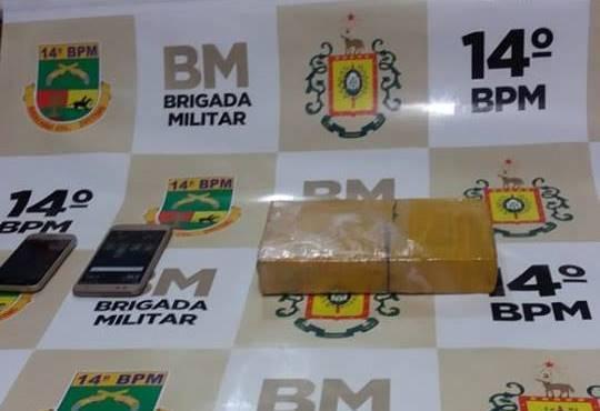 Brigada Militar apreende um quilo de maconha com adolescente em São Luiz Gonzaga