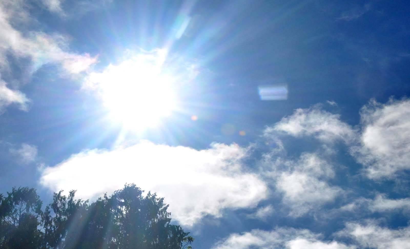 Semana começa ensolarada e com vento norte