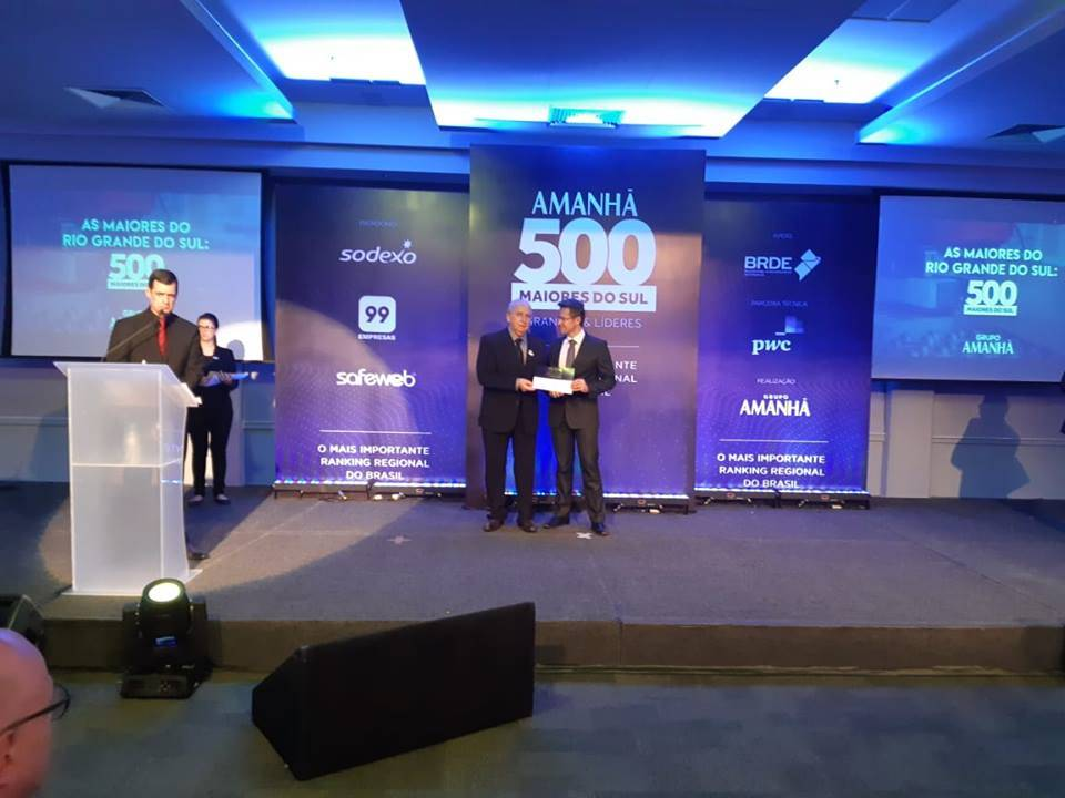 Coopatrigo é premiada por estar entre 100 maiores empresas gaúchas