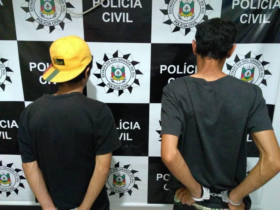 Policia Civil prendeu duas pessoas na sexta-feira