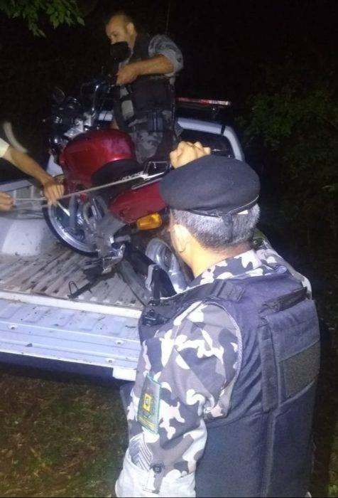 Recuperação de moto furtada