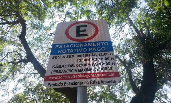 Estacionar no Centro de São Luiz Gonzaga fica mais caro a partir desta quarta