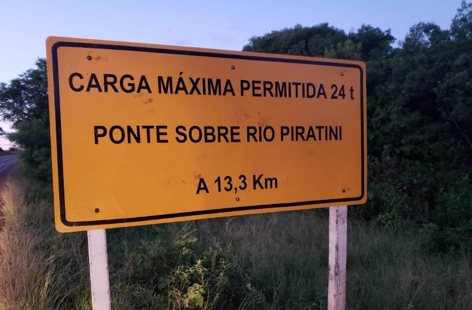 DAER interdita ponte sobre o Rio Piratini na ERS 168