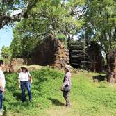 A jornalista visitou o Sítio Arqueológico de São Lourenço (2)