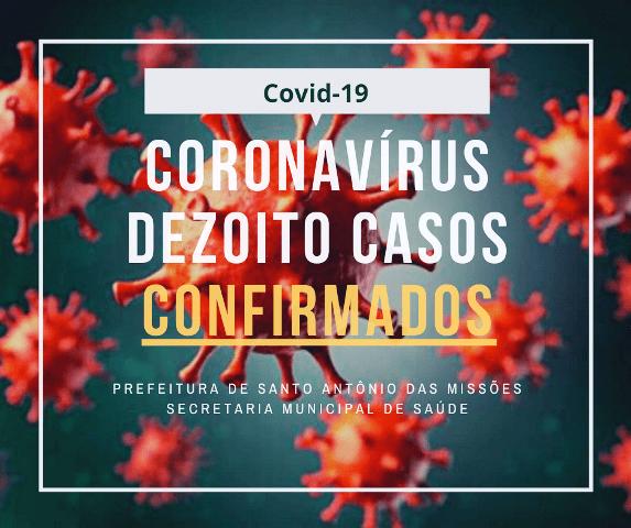 Secretaria de Saúde registra novo caso de coronavírus em Santo Antônio das Missões, totalizando 18 casos