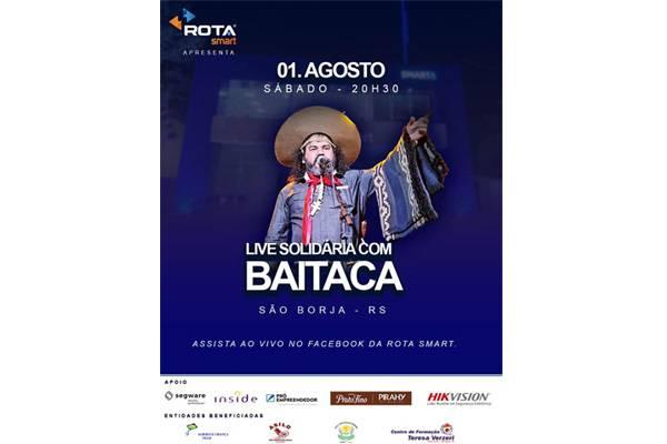 """Rota Smart promove """"live"""" com Baitaca neste sábado com transmissão da Rádio Missioneira"""