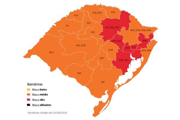 Região das Missões segue em bandeira laranja