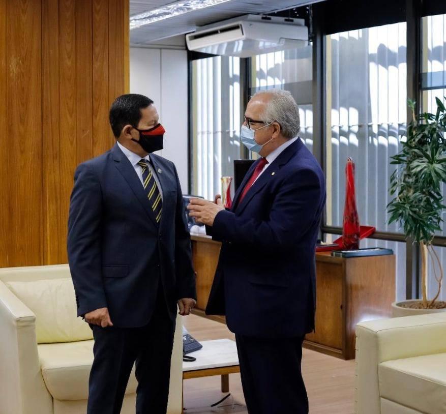 O deputado federal, Pedro Westphalen reuniu-se com o vice-presidente da República