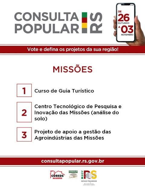 Votação da Consulta Popular começa nesta segunda