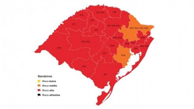 Com um recurso deferido, mapa definitivo fica com 19 regiões em vermelho e duas em laranja na 37ª rodada