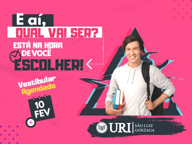 Vestibular Agendado da URI – São Luiz Gonzaga será no dia 10 de fevereiro