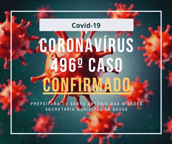 Boletim Epidemiológico desta terça-feira registra mais casos de coronavírus em Santo Antônio das Missões