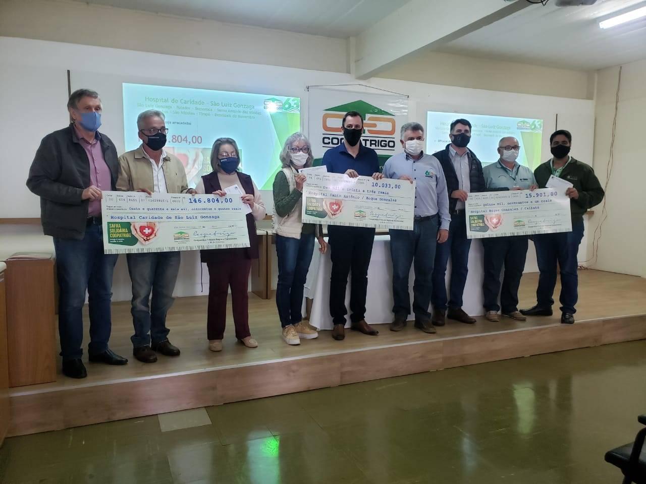 Campanha Safra Solidária da Coopatrigo arrecada mais de R$ 172 mil para hospitais da região