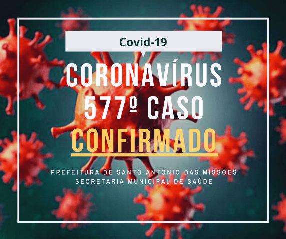 Boletim Epidemiológico desta quinta-feira registra mais casos de coronavírus em Santo Antônio das Missões
