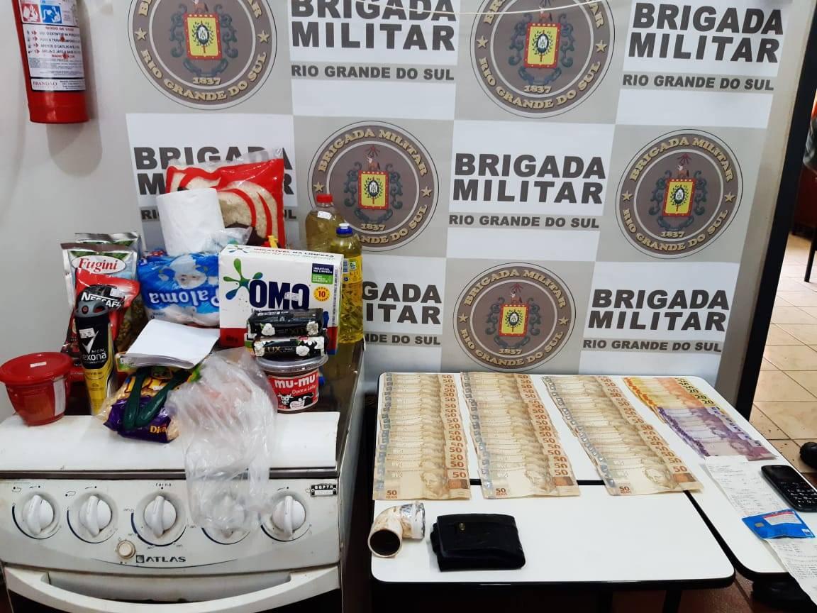 Brigada Militar prende homem por furto em Bossoroca