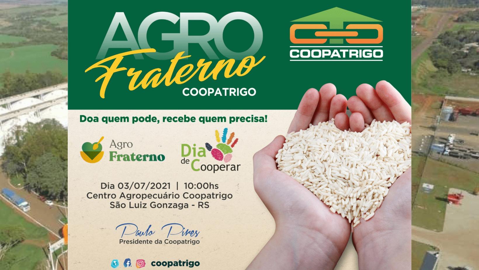 Coopatrigo celebra o Dia de Cooperar neste sábado com a divulgação das arrecadações do Agro Fraterno