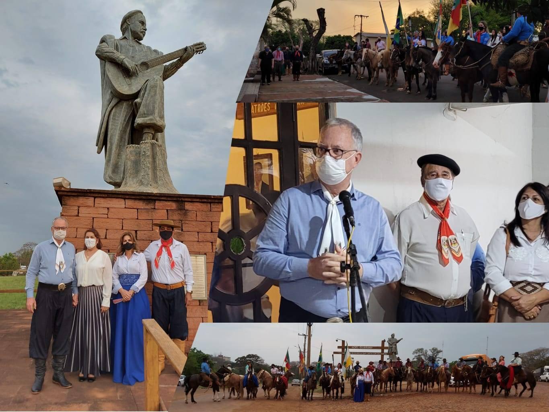 Aberta a Semana Farroupilha em Bossoroca; profissionais da Saúde foram homenageados